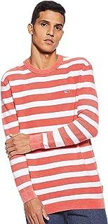 Tommy Hilfiger Men's TJM Washed Stripe Sweater Sweatshirt