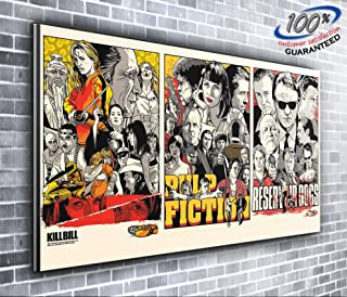 Kill Bill Pulp Fiction Reservoir Dogs Quentin Tarantino Panoramic Canvas Print XXL Picture 50 inch x 20 inch Over 4 foot wide x 1.5 foot high Ready to Hang Stunning Quality by Canvas35 Ltd.