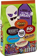 HERSHEY's Halloween Candy, (REESE'S, HERSHEY'S, ALMOND JOY, KIT KAT, WHOPPERS, MILK DUDS), All Time Greats assortment, 160...