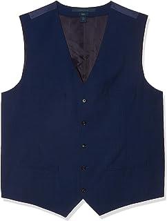 Men's Slim Fit Solid Textured Suit Vest
