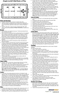 Zieglerworld 11 x 17 Large Laminated Billiard Pool Table Eight 8 Ball Rules & Regulations Poster