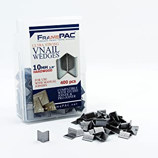 V Nails for Picture Framing - Ultra Strong - 10mm (3/8 Inch) Vnail Wedges for Joining Picture Frame Corners - Hardwood Frames [400 V Nail Pack, Loose]
