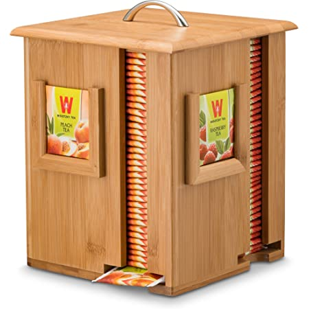 Creative Co-op Reclaimed Wood White House Tea Bag Caddy