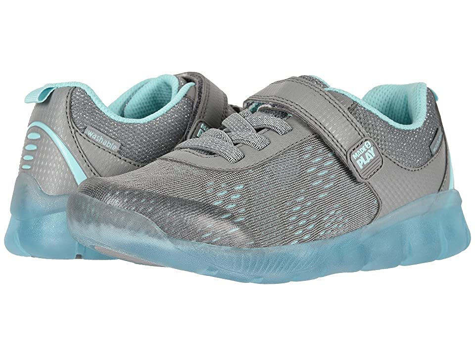 Stride Rite M2P Lighted Neo (Little Kid) (Grey/Blue) Girls Shoes