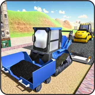 Highway Road Construction Game on City Builder