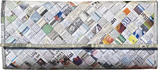 recycled newspaper clutch purse