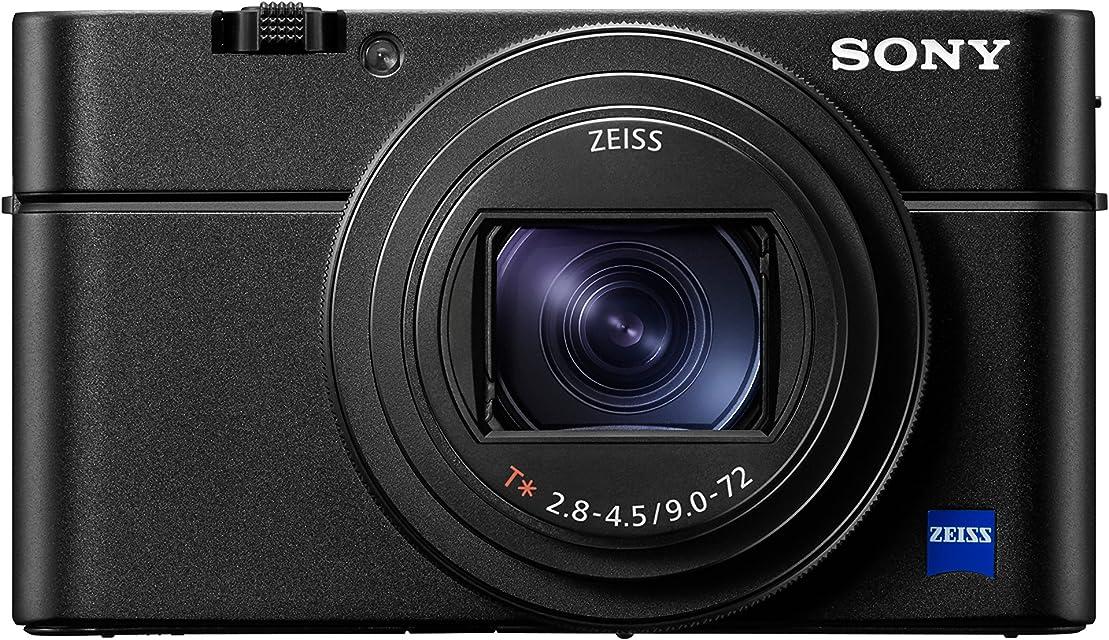Sony DSC-RX100M6 - Cámara compacta (Sensor CMOS 1.0 de 20.1 MP Zoom 24-200 mm F2.8-4.5 vídeos 4K AF de 0.03 s Disparo contínuo hasta 24 fps) Negro
