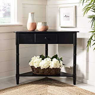 Safavieh American Homes Collection Gomez Distressed Black Corner Table