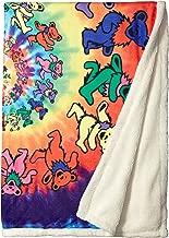 Liquid Blue Men's Grateful Dead Spiral Bears Dye Coral Fleece Throw Blanket, multi, 50