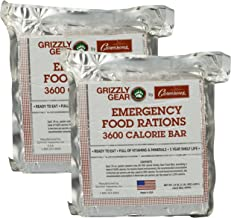 Emergency Food Rations 2 Pack - 3600 Calorie Bar - 6 Day Supply - Less Sugar and More Nutrients Than Other Leading Brands - (5 Year Shelf Life)