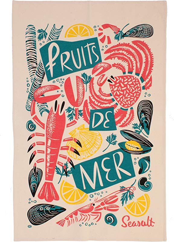 Ulster Weavers Seasalt Fruits De Mer Cotton Tea Towel