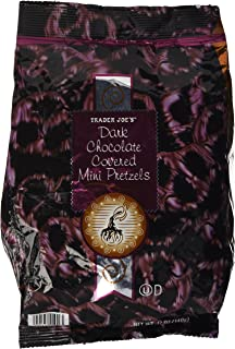 Trader Joes Dark Chocolate Covered Mini Pretzels (12 Oz)