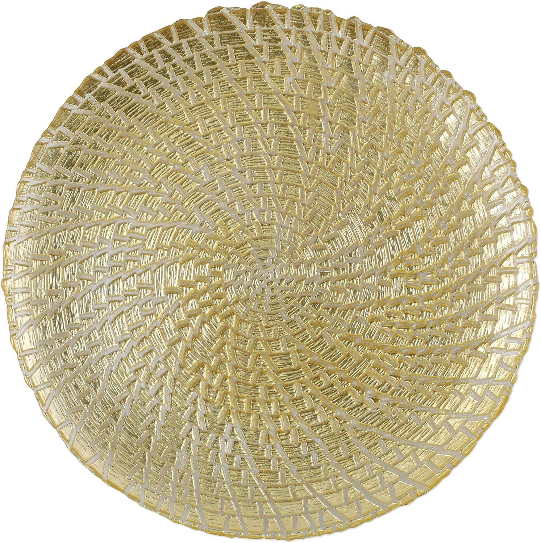 Vietri Rufolo Glass Gold Crocodile Plate Service Topics on TV Charger Max 59% OFF