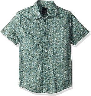 RVCA Boys' Big Makoto Short Sleeve Woven Button Up Shirt
