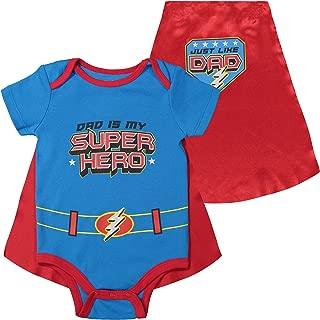 Funstuff Father's Day Super Hero Dad Infant Baby Boys' Bodysuit & Cape, Blue