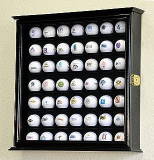 49 Golf Ball Display Case Cabinet Wall Rack Holder w/98% UV Protection Lockable -Black
