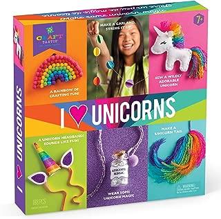Craft-tastic – I Love Unicorns Kit – Craft Kit Includes 6 Unicorn-Themed Projects (Bilingual Version)