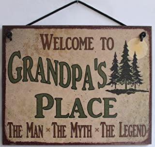 Best grandpa the man the myth the legend sign Reviews