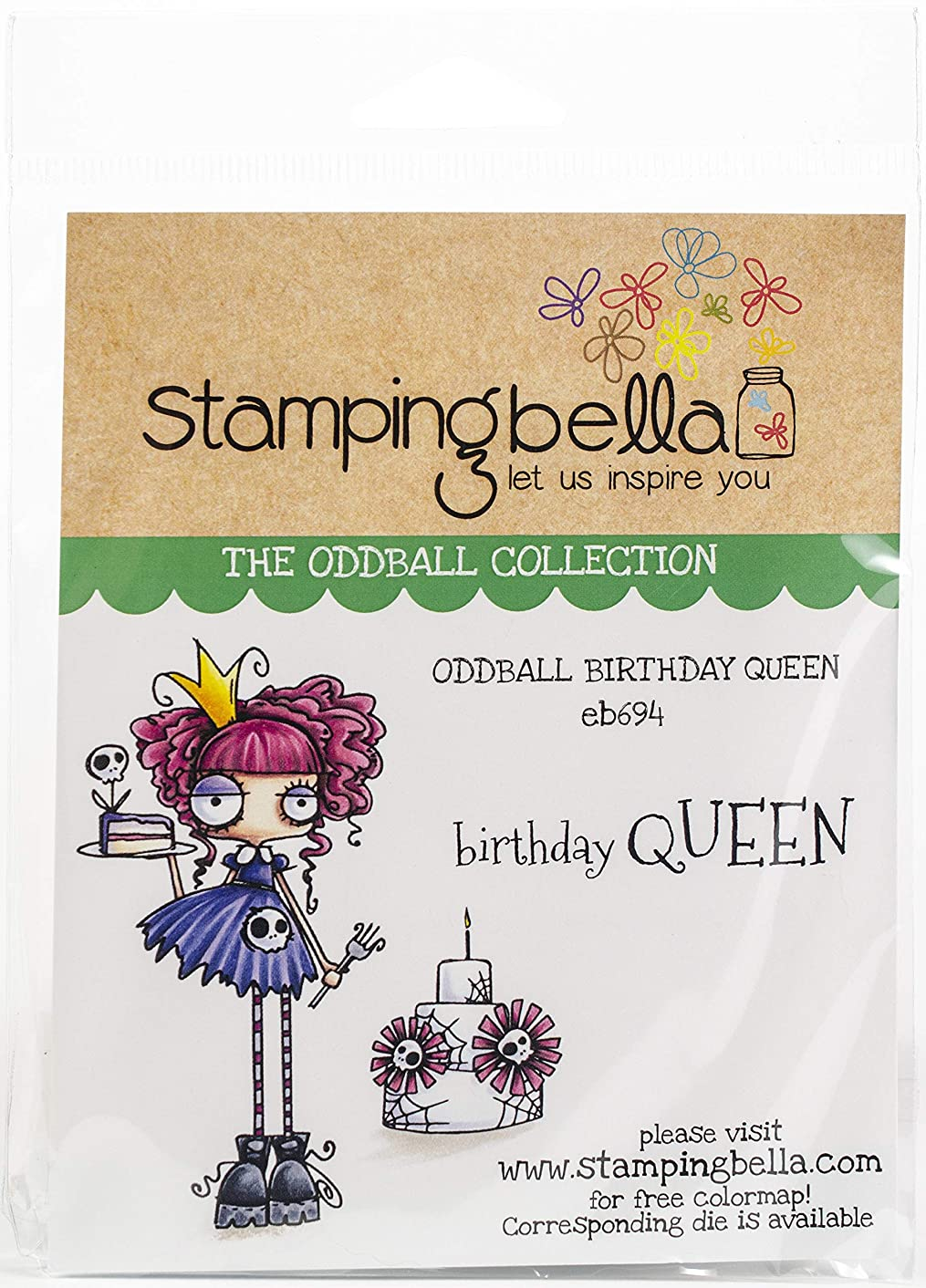 Stamping Bella EB694 Cling Stamps, Oddball Bouquet