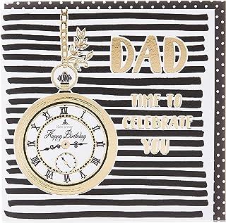 Rachel Ellen REZEB19 Zebra Crossing - Dad Birthday Pocket Watch Greeting Card