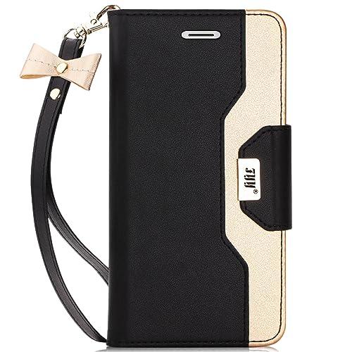 834af83685 iPhone6sケース iPhone6ケース,FYY 女子向 手帳型 ミラー付き カードポケット付き スタンド