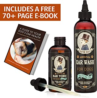 Mister Ben's Original Ear Care Kit for Dogs - Most effective dog ear treatment & cleaner - Includes Tonic & Wash - Provides fast relief from infections, itching, odors, bacteria, mites, fungus & yeast