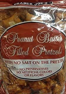 4 x 16oz Trader Joe's Peanut Butter Filled Pretzels with No Salt on the Pretzel (4 Pounds Total) No Preservatives No Artificial Colors or Flavors