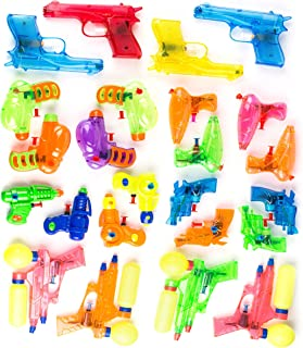 Neliblu Squirt Guns Party Favors - Bulk Party Pack Water Guns (Pack of 24) Assorted Most Popular Water Squirting Blasters - Pool Party Favors - Goody Bag Fillers