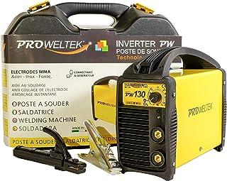 proweltek estación de soldadura inverter 130 A incluye: maletín, cortador de masa, puerta