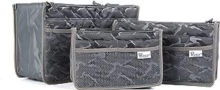 Premium Handbag Organizer 3 Piece Set Small, Medium and Large (Camo Grey)