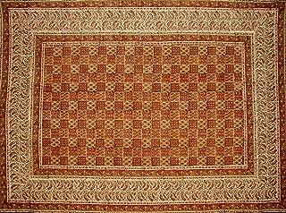 Full Moon Loom Kalamkari Block Print Tapestry Cotton Bedspread 102