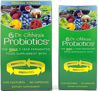Dr. Ohhira's Probiotics, Original Formula, 60 Caps with Bonus 10 Capsule Travel Pack - 12 Live Strains