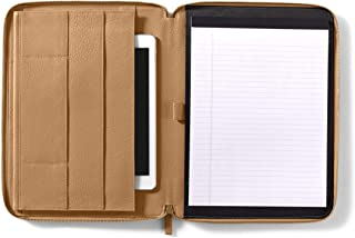 Leatherology Camel Tablet Padfolio Portfolio Compatible with iPad