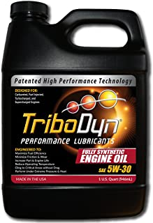 TriboDyn 5w30 Synthetic Motor Oil - 1 US Quart - Next Generation Full Synthetic Engine Oil Shown to Increase Fuel Mileage - Increase Horsepower - Reduce Friction - Extended Change Interval
