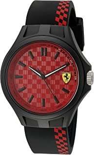 Ferrari Men's Quartz Multi Color Casual Watch (Model: 0830325), Black/Red