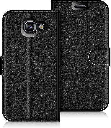 COODIO Custodia in Pelle Samsung Galaxy A5 2016, Custodia Samsung A5 2016, Custodia Portafoglio Cover Porta Carte Chiusura Magnetica per Samsung A510 Galaxy A5 2016, Nero