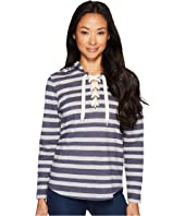 U.S. POLO ASSN. - French Terry Striped Pullover Hoodie