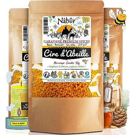 1 kg HA Handels GmbH Pastilles de cire dabeille blanches pour bougies 2,5 kg 500 g Emballage refermable Cosm/étique naturel blanchi