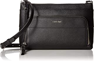 Lily Saffiano Leather Top Zip Crossbody