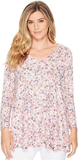 Nally & Millie - Ditsy Pink Floral Print Tunic