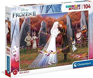 Clementoni 25719, Frozen 2 Supercolor Puzzle for Children - 104 Pieces, Ages 6 years Plus