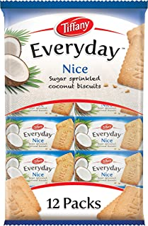 Tiffany, Everyday Nice, Sugar Sprinkled Coconut Biscuits, 50g x 12