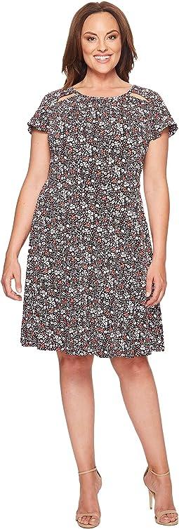 Plus Size Brooks Shirred Neck Dress