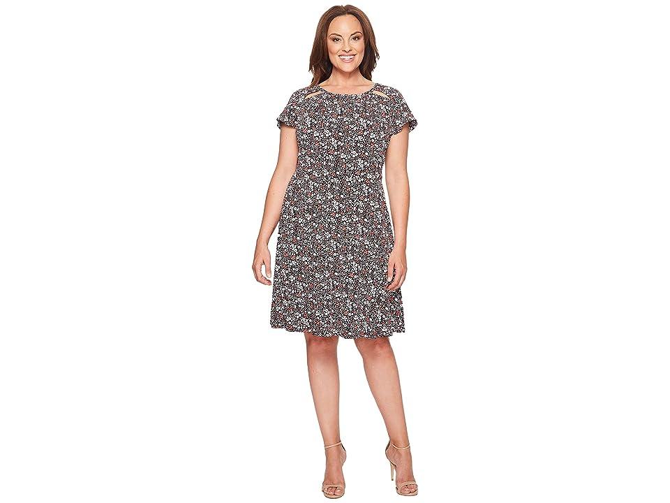 MICHAEL Michael Kors Plus Size Brooks Shirred Neck Dress (Ballet) Women