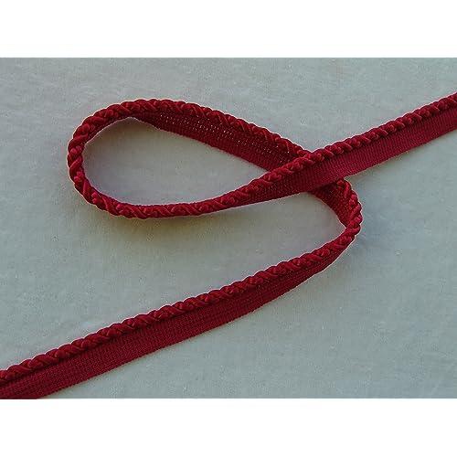Beautiful 1//4 Silky Rayon Lip Cord Trim Vibrant Red 10 Yards