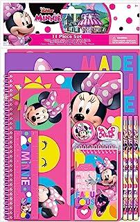 Disney Minnie Mouse Kids School Supplies Set with Pencil Case, Notebook, Folders, Pencils - 11 Pc. Set