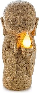 VP Home Baby Buddha Guiding Light Solar Powered LED Outdoor Decor Garden Statue
