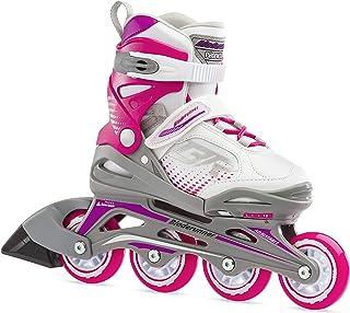 Bladerunner by Rollerblade Phoenix Girls Adjustable Fitness Inline Skate، White and Fuchsia، Junior، Value Performance Inline Skates