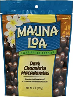 Mauna Loa Macadamias, Dark Chocolate, 6 Ounce Bag