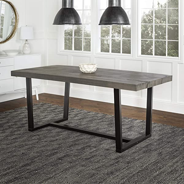 WE Furniture AZW72DSWGY Dining Table 72 Grey
